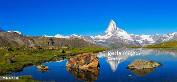 Sunny day with view to Matterhorn  - XXL Panorama