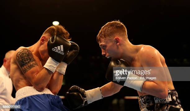 Sunny Edwards and Gyula Dodu in the Flyweight Contest at The Copper Box London PRESS ASSOCIATION Photo Picture date Saturday May 20 2017 See PA story...