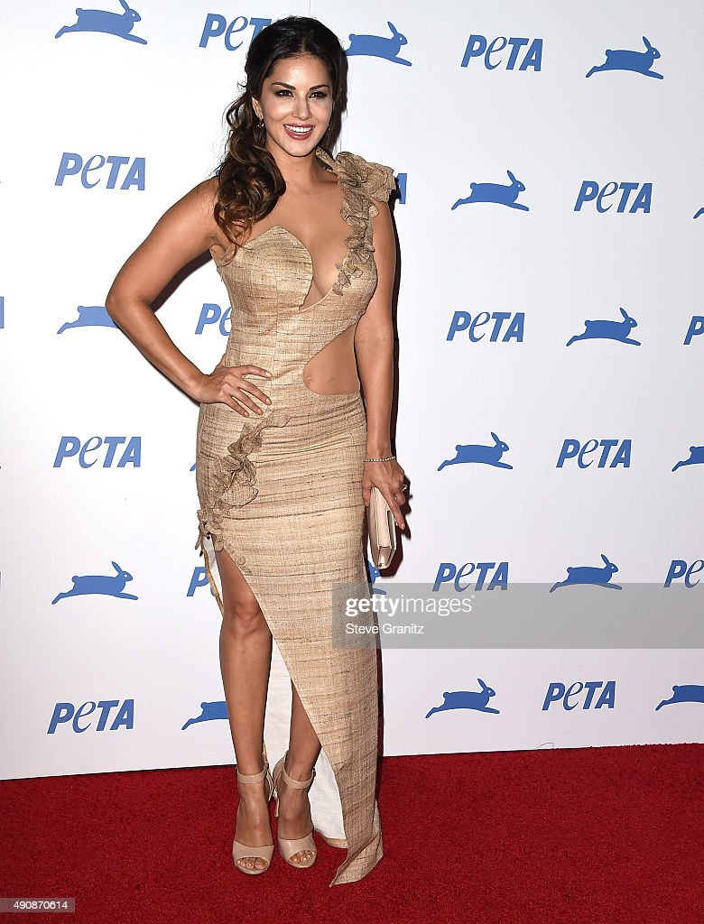 <a gi-track='captionPersonalityLinkClicked' href=/galleries/search?phrase=Sunny+Leone&family=editorial&specificpeople=4105641 ng-click='$event.stopPropagation()'>Sunny Leone</a> arrives at the PETA's 35th Anniversary Party at Hollywood Palladium on September 30, 2015 in Los Angeles, California.