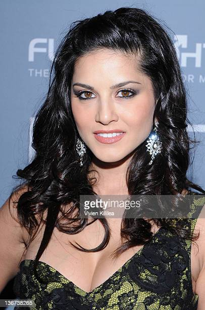 Sunny Leone attends the 10th Annual XBIZ Awards at The Barker Hanger on January 10 2012 in Santa Monica California