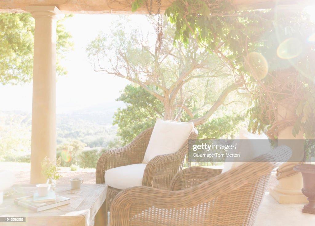 Sunny luxury patio : Stock Photo