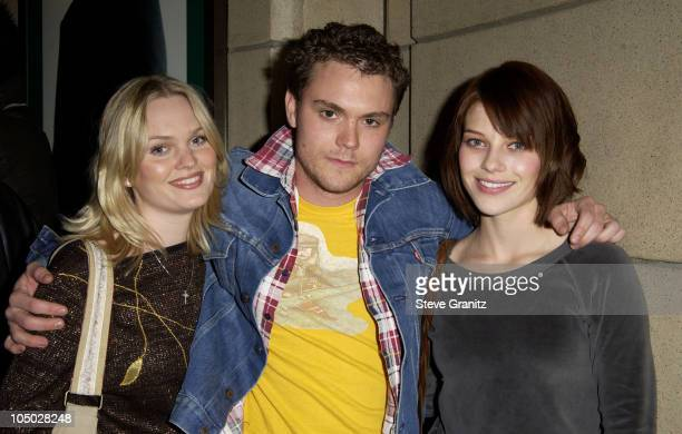 Sunny Mabrey Clayne Crawford and Lauren German during 'Final Flight Of The Osiris' World Premiere at Steven J Ross Theatre in Burbank California...