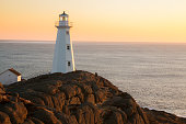 Watching Sunrise.  Cape Spear Lighthouse National Historic Site,  the easternmost point in Canada, and North America. (52°37'W) Newfoundland & Labrador