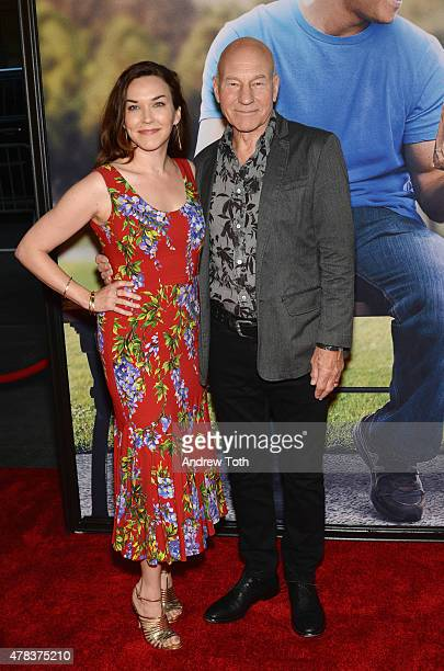 Sunny Ozell and Patrick Stewart attend the 'Ted 2' New York premiere at Ziegfeld Theater on June 24 2015 in New York City