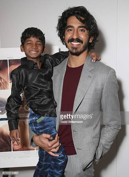 Sunny Pawar and Dev Patel attend the Los Angeles Special Screening of The Weinstein Co's 'Lion' at Samuel Goldwyn Theater on November 22 2016 in...