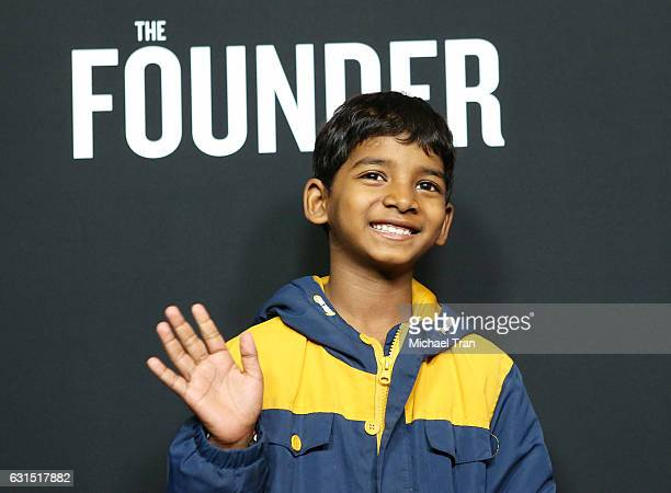 Sunny Pawar arrives at the Los Angeles premiere of 'The Founder' held at ArcLight Cinemas Cinerama Dome on January 11 2017 in Hollywood California