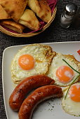 Breakfast, Egg, Sausage, Bacon, Baked