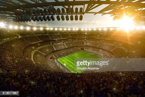 Sunny soccer stadium