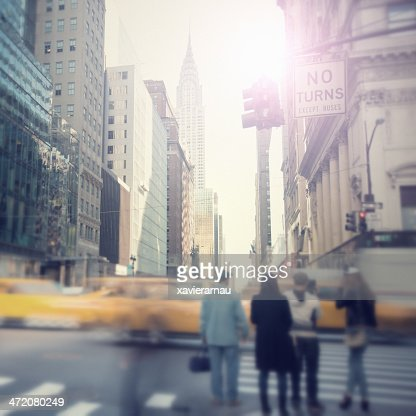 Sunny streets of New York