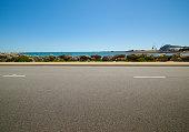 asphalt road on