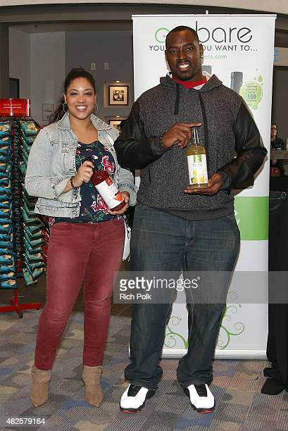Sunny Zupanic and NFL player Arthur Jones attend the Kia Luxury Lounge presented by ZIRH at the Scottsdale Center for Performing Arts on January 31...