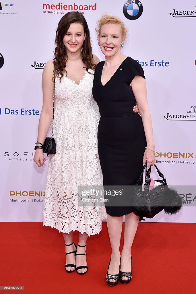 Sunnyi Melles (R) and her daughter Leonille Elisabeth Judith Maria Anna Prinzessin zu Sayn-Wittgenstein-Sayn (L) attend the Lola - German Film Award (Deutscher Filmpreis) on May 27, 2016 in Berlin, Germany.
