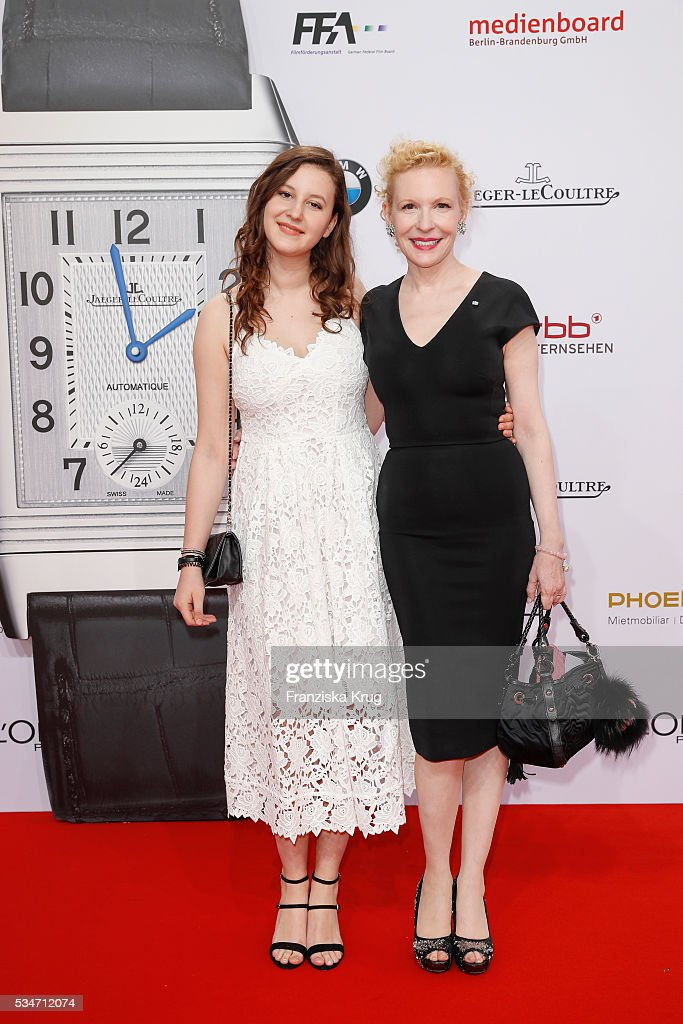 Sunnyi Melles (R) and her daughter Leonille Elisabeth Judith Maria Anna Prinzessin zu Sayn-Wittgenstein-Sayn (L) during the Lola German Film Award (Deutscher Filmpreis) 2016 on May 27, 2016 in Berlin, Germany.