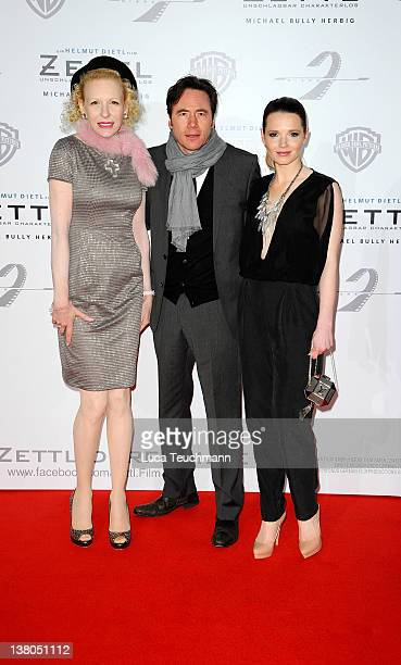 Sunnyi Melles and Michael Bully Herbig and Karoline Herfurth attend the 'Zettl Berlin' premiere at CineStar Sony Center on February 1 2012 in Berlin...