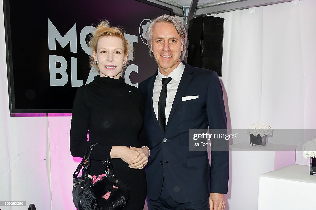 Sunnyi Melles and Tom Junkersdorf attend the Montblanc House Opening on February 09, 2016 in Hamburg, Germany.
