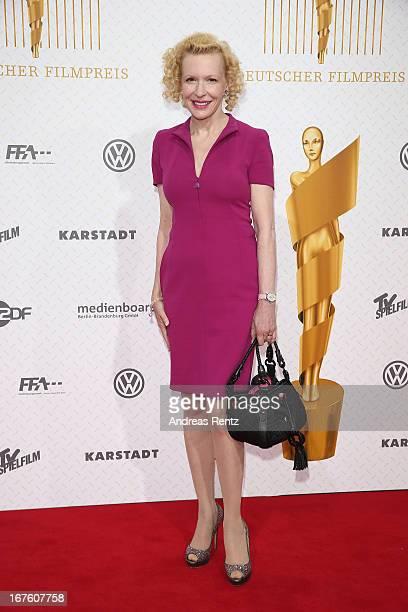 Sunnyi Melles arrives for the Lola German Film Award 2013 at FriedrichstadtPalast on April 26 2013 in Berlin Germany