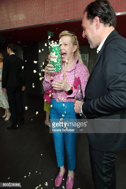 Sunnyi Melles with popcorn during the opening night of the Munich Film Festival 2017 at Mathaeser Filmpalast on June 22 2017 in Munich Germany