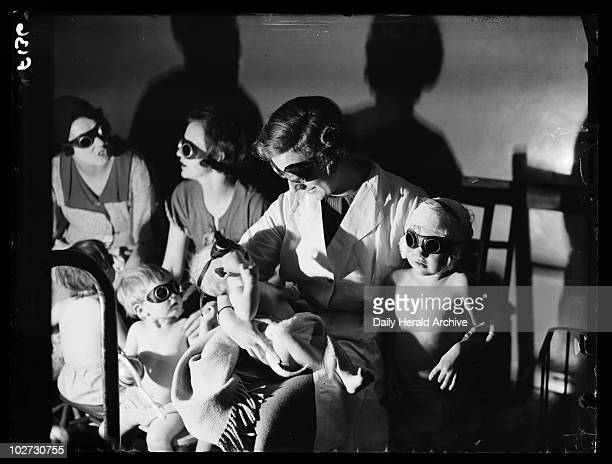 'Sunray' treatment 1936 A photograph of children receiving sunray treatment at the Children's Health Centre in Putney London taken by Putnam for the...