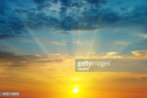 sunrise and cloudy sky : Stock Photo