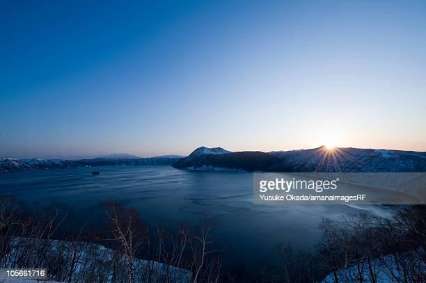 Sunrise and Lake Mashu