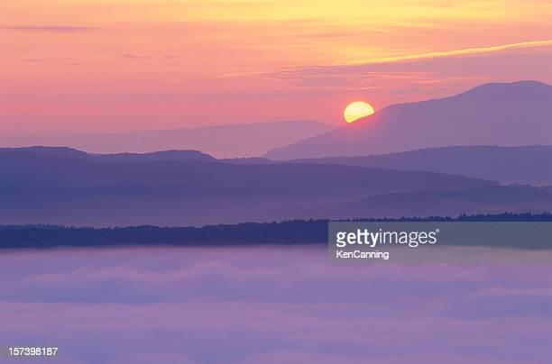 Sunrise and Valley Fog