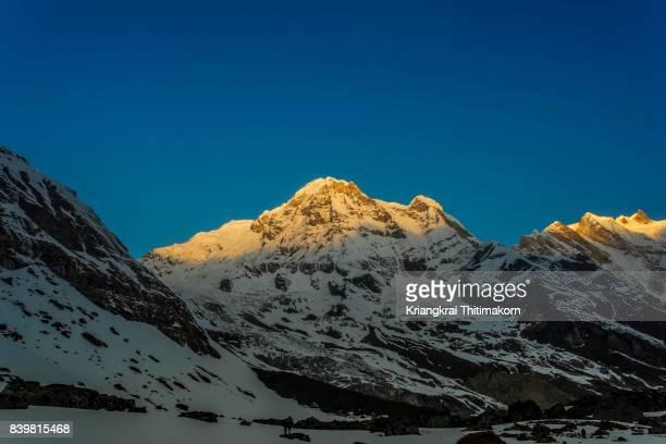 Sunrise at Annapurna Base Camp, Nepal.