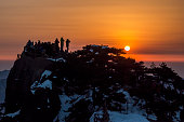 Sunrise at Biright Hill Peak at Mt Huangshan - Anhui, China