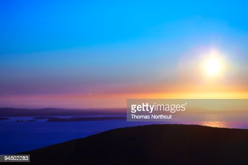 sunrise at cadillac mountain acadia national park stock photo getty. Cars Review. Best American Auto & Cars Review