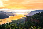 Sunrise at Columbia River Gorge