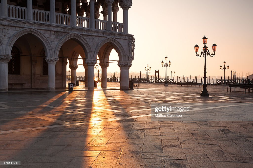 Sunrise at Ducal Palace in Venice, Italy