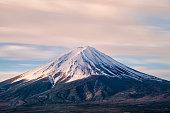 Japanese mountain, sunrise at Mt fuji