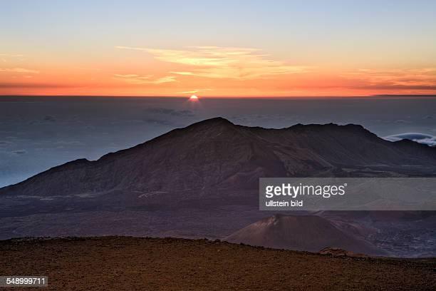 Sunrise at Haleakala Crater Maui Hawaii USA