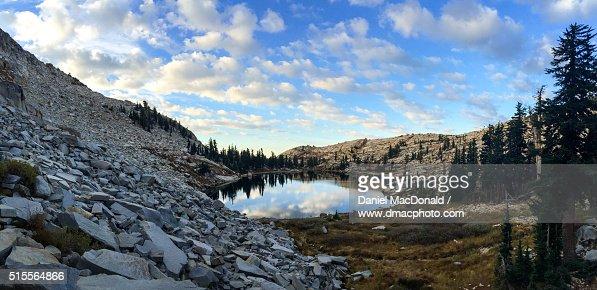Sunrise at Lyons Lake in the Crystal Range, Desolation Wilderness, Sierra Nevada mountains