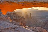 Sunrise at Mesa Arch, Canyonlands National Park, Utah, USA