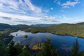 Sunrise at Monroe Lake, Tremblant Provincial Park, Quebec, Canada