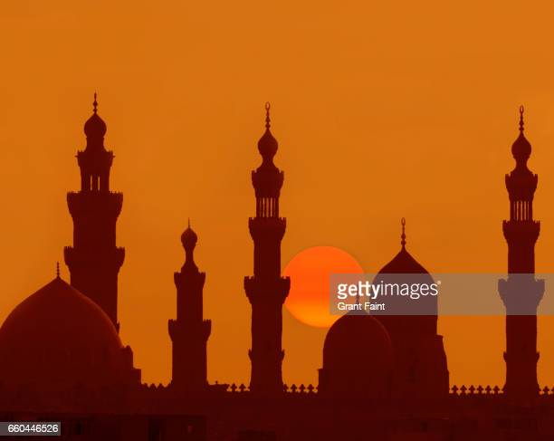 Sunrise at mosque.