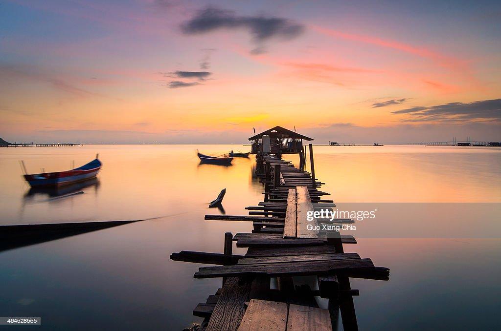 Sunrise at Penang : Stock Photo