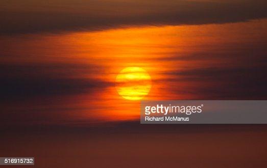 Sunrise at Rausu harbour.