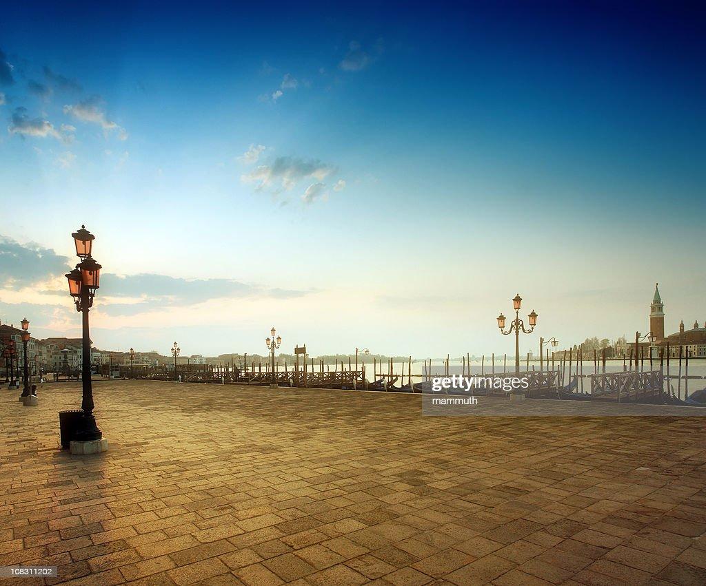 Sunrise at Saint Mark's Square, Venice : Stock Photo