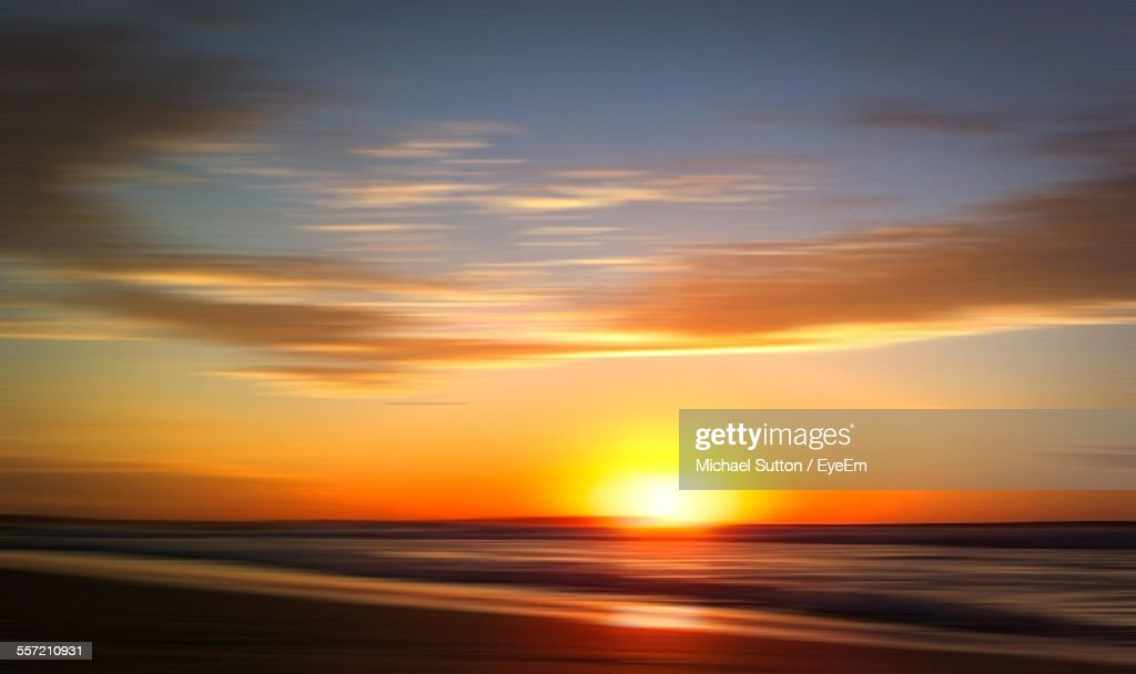 Sunrise At Sea : Stock Photo
