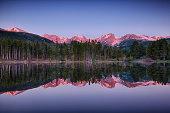 sunrise at Sprague lake, Rocky Mountain National Park, Colorado, USA