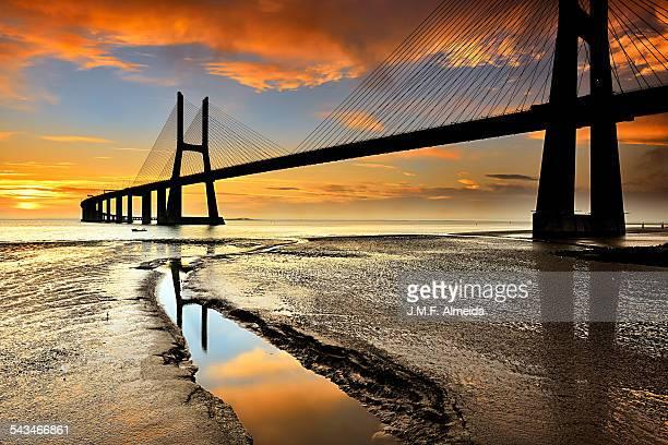 Sunrise at Tagus river