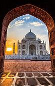 Sunrise at Taj Mahal in Agra, India