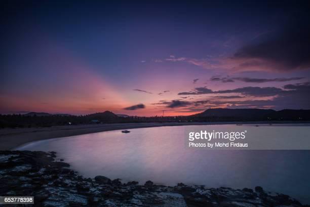 Sunrise at Tanjung Aan, Lombok, Indonesia