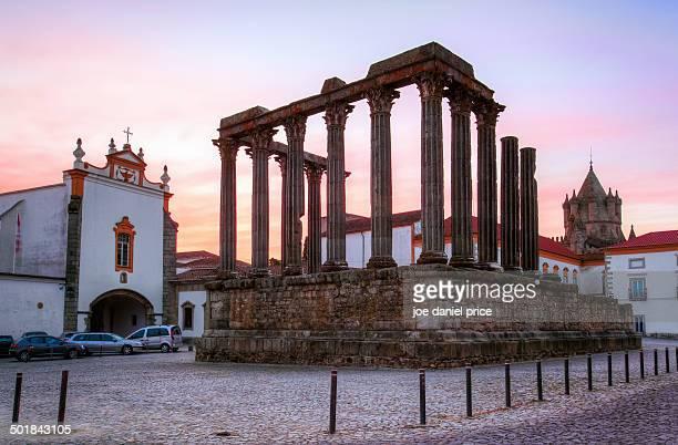 Sunrise at Temple Diana, Evora, Alentejo, Portugal