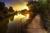 Sunrise at the Dijle river, Mechelen, Belgium