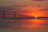 Sunrise at the Skyway Bridge