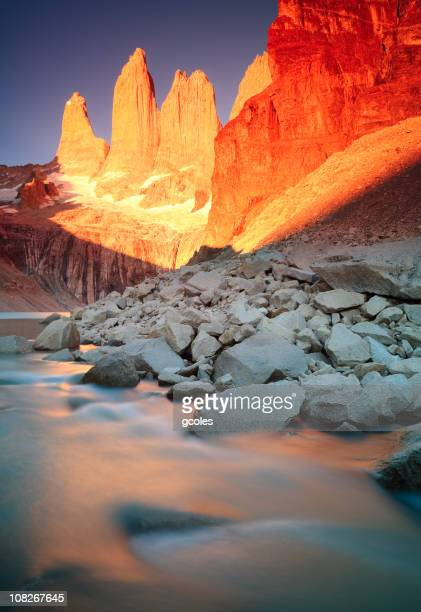 Sunrise at Torres Del Paine Mountains