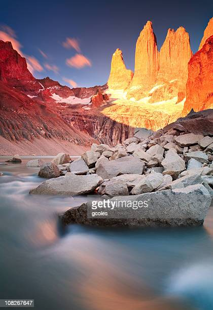 Sonnenaufgang am Torres Del Paine-Gebirge
