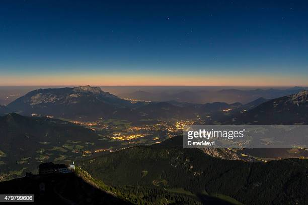 Sunrise at Watzmann (peak Hocheck), german Alps